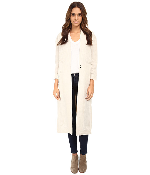 Free People - Linen Duster Jacket (Natual Linen) Women's Coat