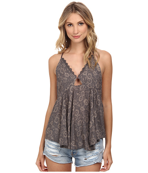 Free People - Lost In Suspense Tank Top (Smoke Combo) Women