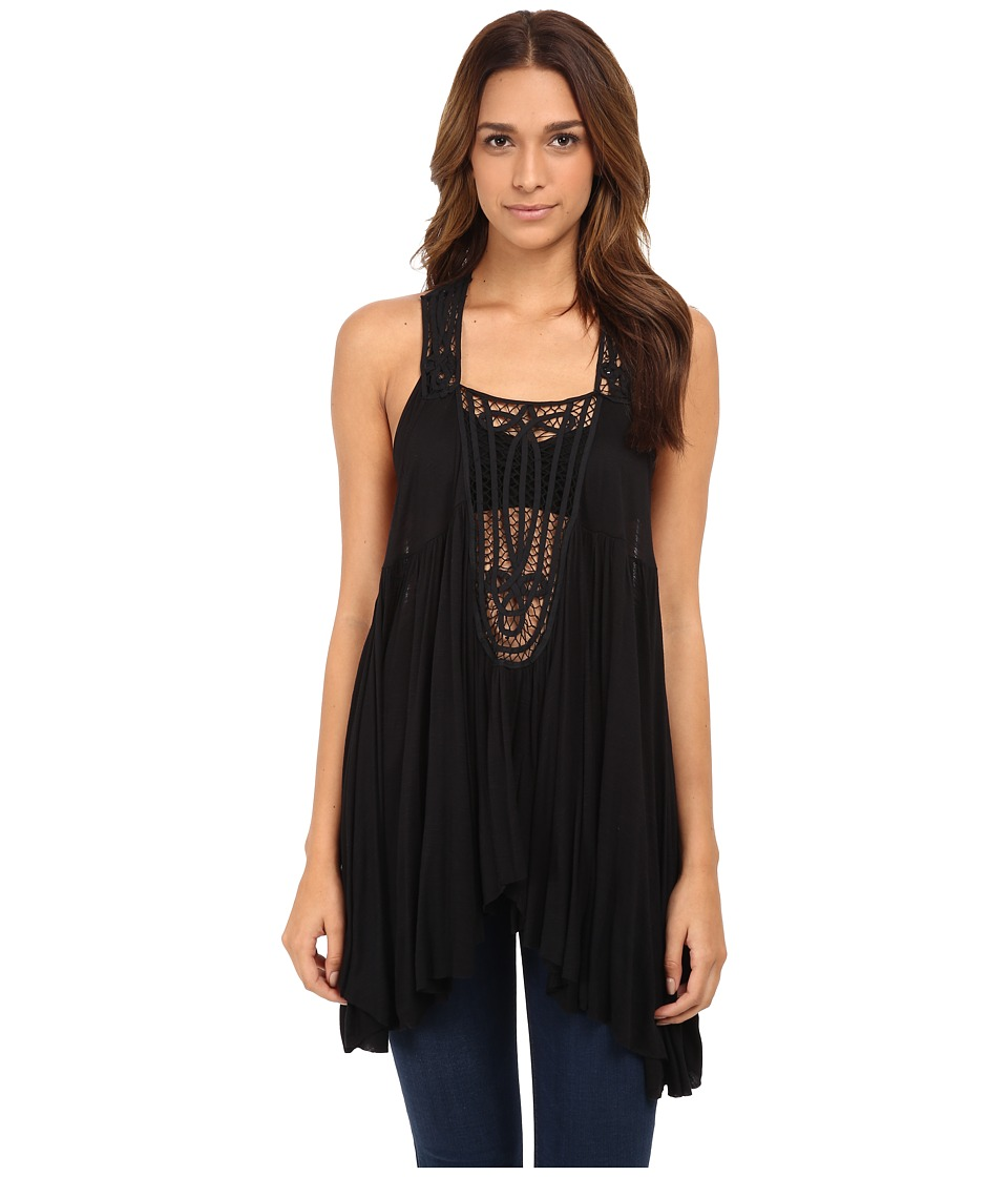 Free People - New World Tunic (Black) Women's Blouse