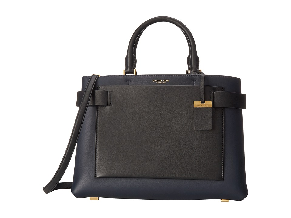 Michael Kors - Audrey Large Satchel (Navy) Satchel Handbags