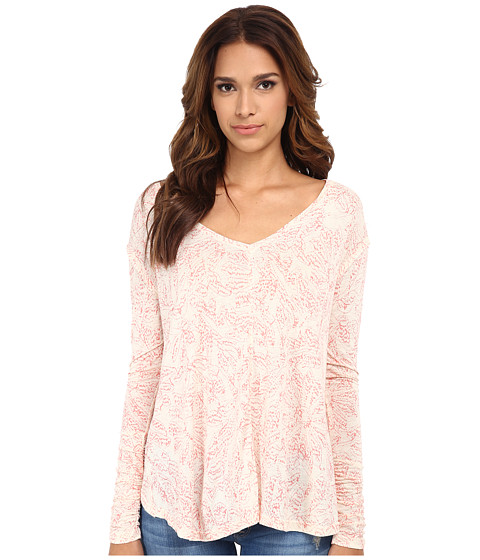 Free People - Printed Sahara Top (Ivory Combo) Women's Clothing