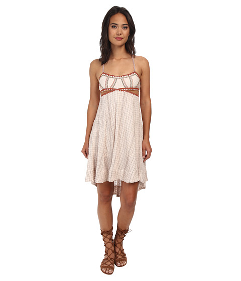 Free People - Smock Stitch Dress (Nude) Women's Dress