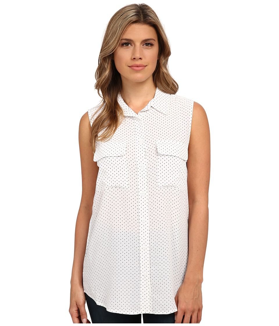 EQUIPMENT - Sleeveless Slim Signature (Bright White/True Black) Women