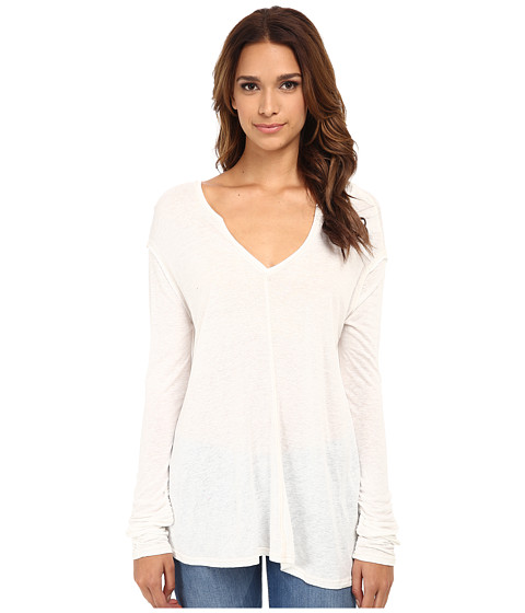 Free People - Solid Sahara Top (Ivory) Women