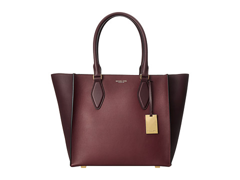 Michael Kors - Gracie Large Tote French Calf (Claret) Tote Handbags