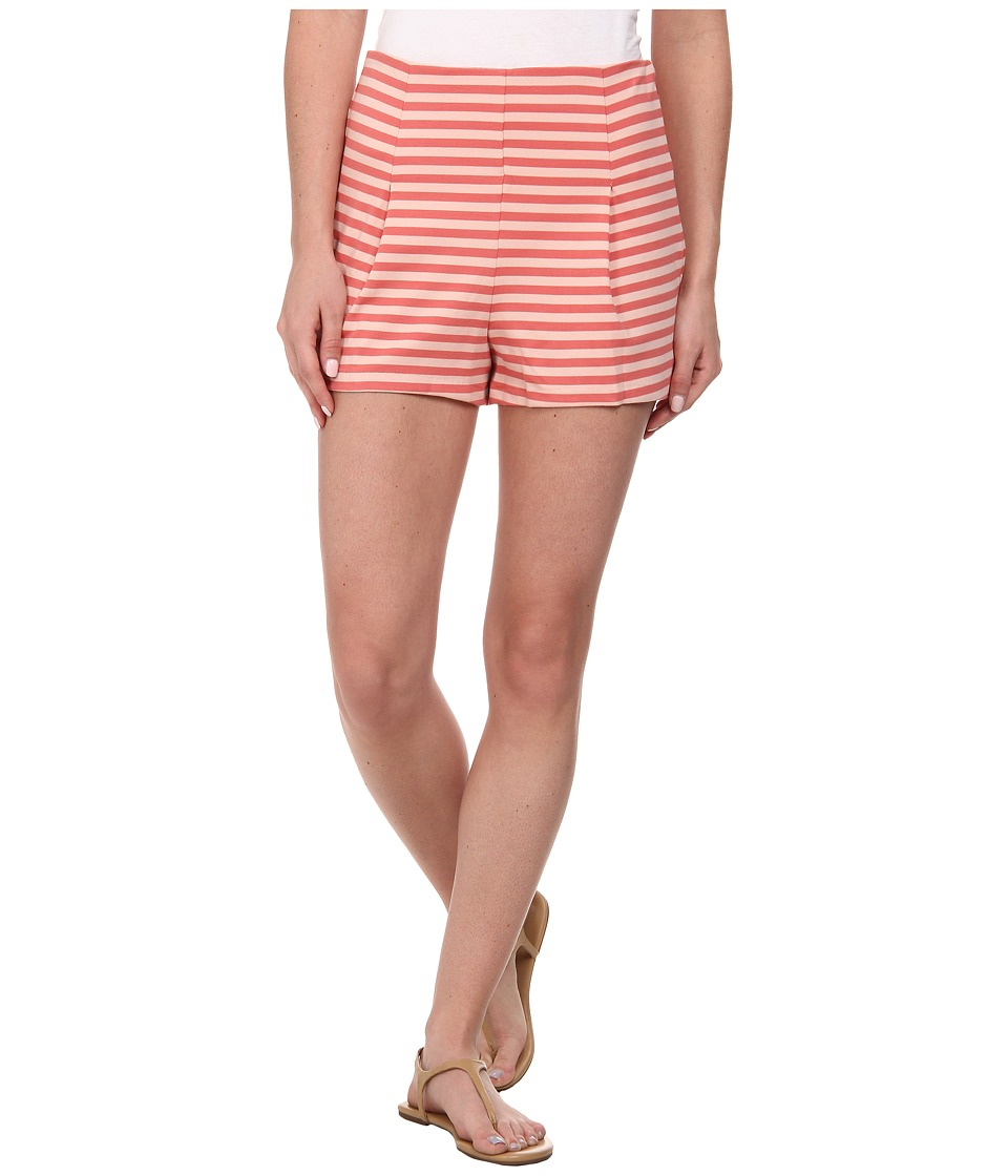 Free People - Striped Clean Shorts (Cayenne/Ballet Combo) Women's Shorts