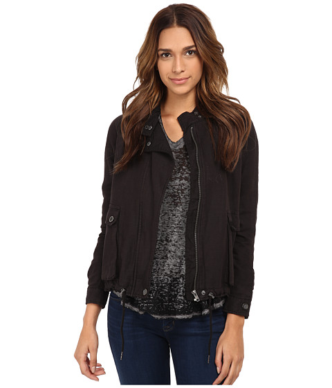 Free People - Swing Sporty Coat (Washed Black) Women