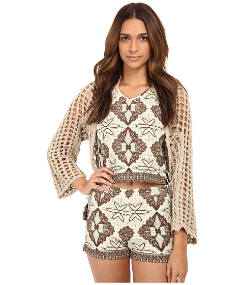 Free People - Trinity Shrug Sweater (Wheat) Women's Sweater