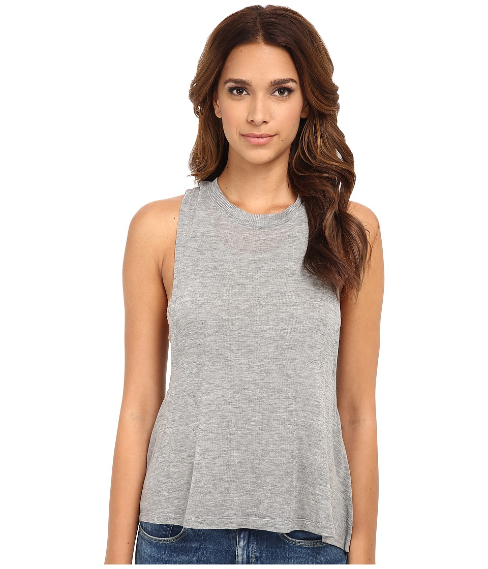 Free People - Twist Back Tank Top (Grey Combo) Women