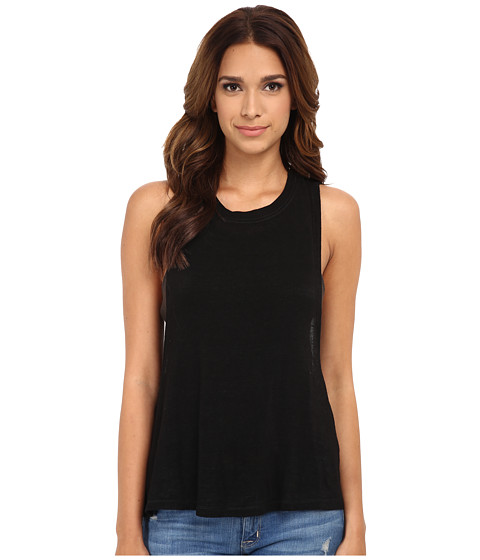 Free People - Twist Back Tank Top (Black Combo) Women's Sleeveless