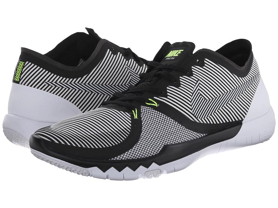 Nike - Free Trainer 3.0 V4 (Black/White/Volt) Men's Cross Training Shoes