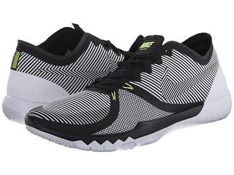 Nike - Free Trainer 3.0 V4 (Black/White/Volt) Men's Cross Training Shoes
