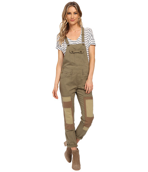 Billabong - Peace Not War Overalls Pants (Seagrass) Women