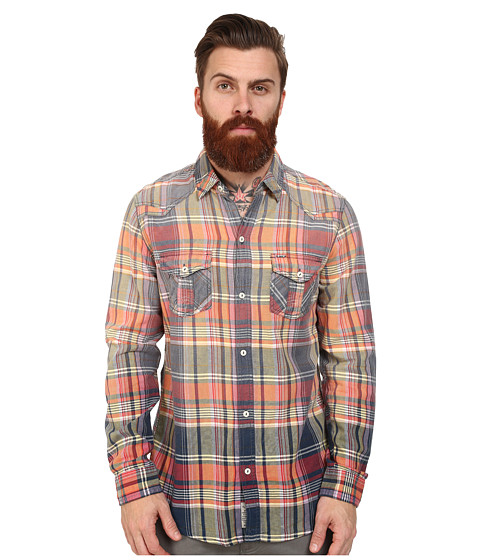 Mavi Jeans - Plaid Shirt (Light Coral Checked) Men