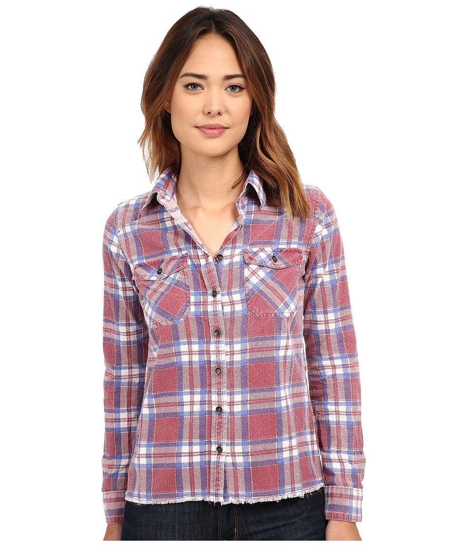 Billabong - Out Of Bounds Long Sleeve Button Up (Black Cherry) Women