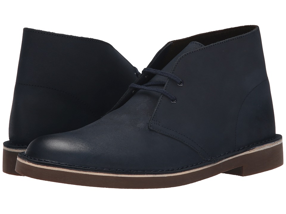 Clarks Bushacre II (Navy Leather) Men