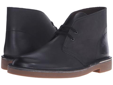 Clarks - Bushacre II (Black Leather) Men