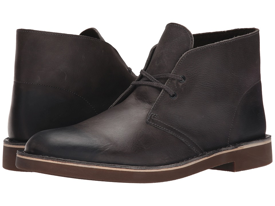 Clarks - Bushacre II (Grey Leather) Men's Lace-up Boots