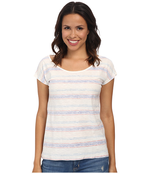 Mavi Jeans - Striped Short Sleeve Top (Off White) Women's Clothing