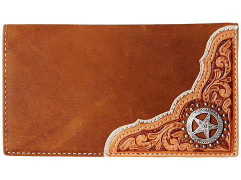 M&F Western - Star Concho Rodeo Wallet (Brown) Wallet Handbags