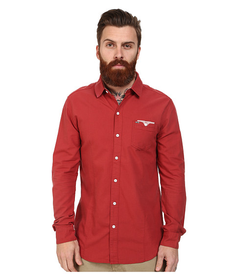 Mavi Jeans - Oxford Shirt (Brick) Men's Long Sleeve Button Up