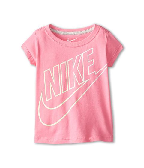 Nike Kids - Outline Gradient Short Sleeve Tee (Toddler) (Pinksicle) Girl