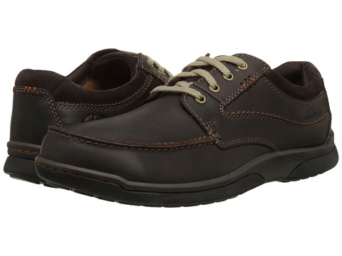 Clarks - Randle Walk (Dark Brown) Men's Shoes