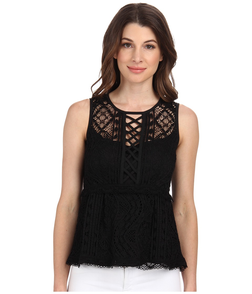 Nanette Lepore - Lacy Tank Top (Black) Women's Blouse