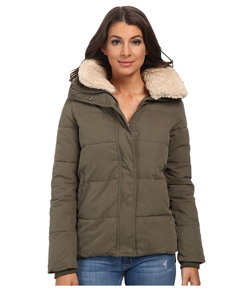 Mavi Jeans - Fur Collar Detailed Coat (Green) Women's Coat