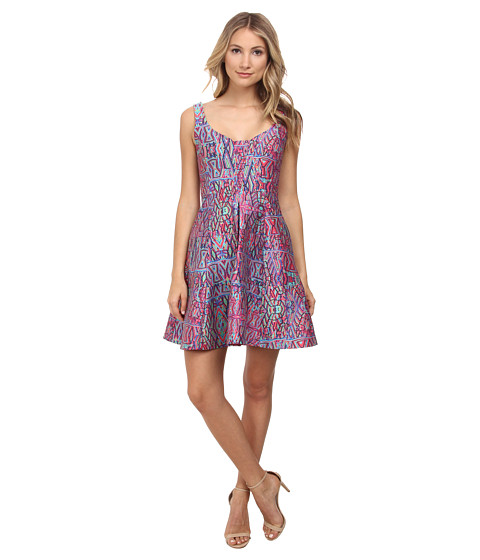 Nanette Lepore - Machu Picchu Dress (Fiesta Pink Multi) Women's Dress