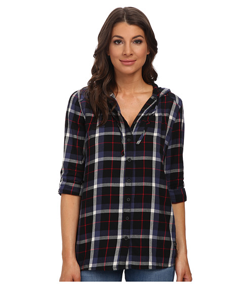 Mavi Jeans - Hooded Tunic (Black Checked) Women's Clothing