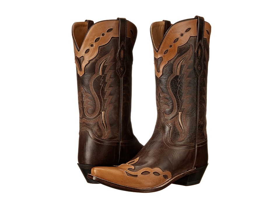 Old West Boots - MF1535 (Brown Canyon/Bazooka) Cowboy Boots