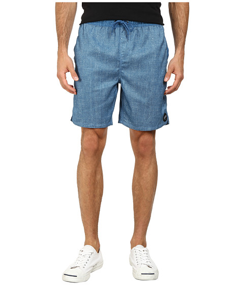 Billabong - Serg Chambray Elastic Shorts (Nautical Blue) Men's Shorts