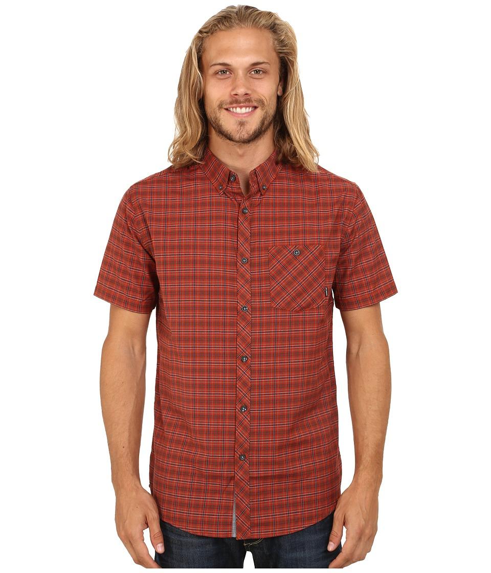 Billabong - Steady Short Sleeve Woven Button Up (Red) Men