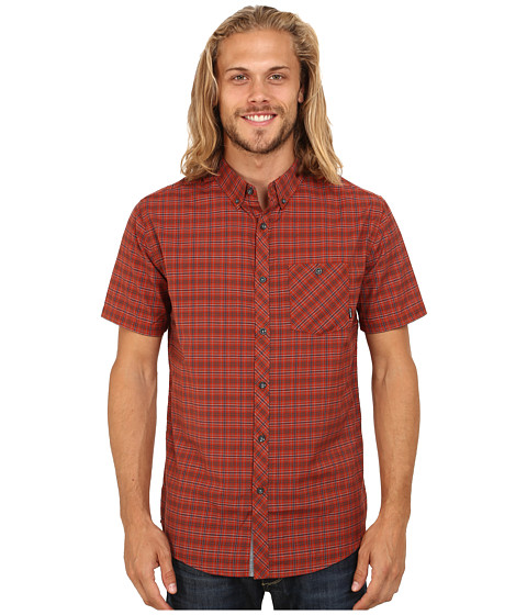 Billabong - Steady Short Sleeve Woven Button Up (Red) Men's Short Sleeve Button Up