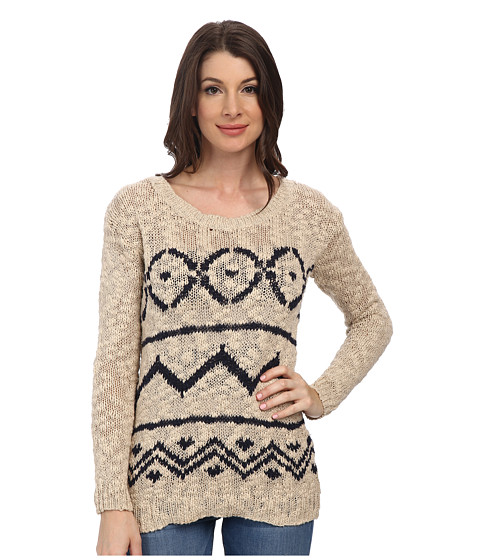 Mavi Jeans - Ethnic Patterned Sweater (Beige) Women