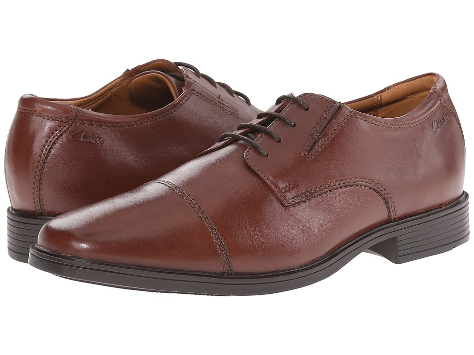 Clarks - Tilden Cap (Brown) Men's Shoes