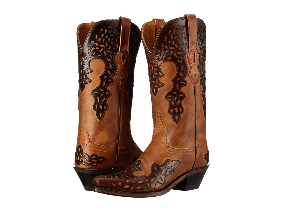 Old West Boots LF1539 (Burnwood/Brown) Cowboy Boots