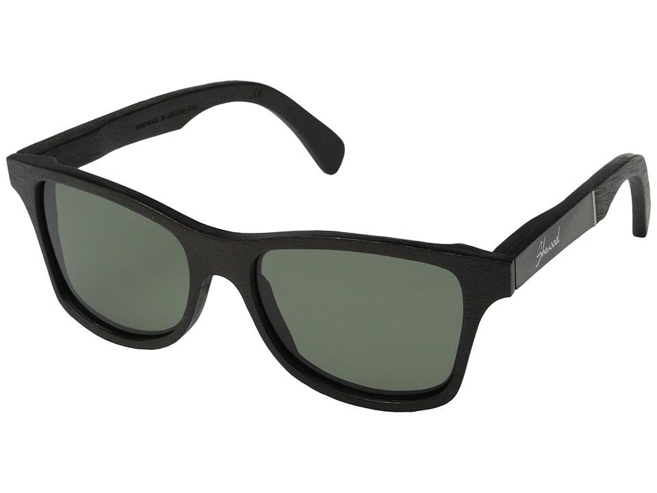Shwood - Canby - Polarized (Dark Walnut/Pearl Grey Inlay/G15 Polarized) Sport Sunglasses