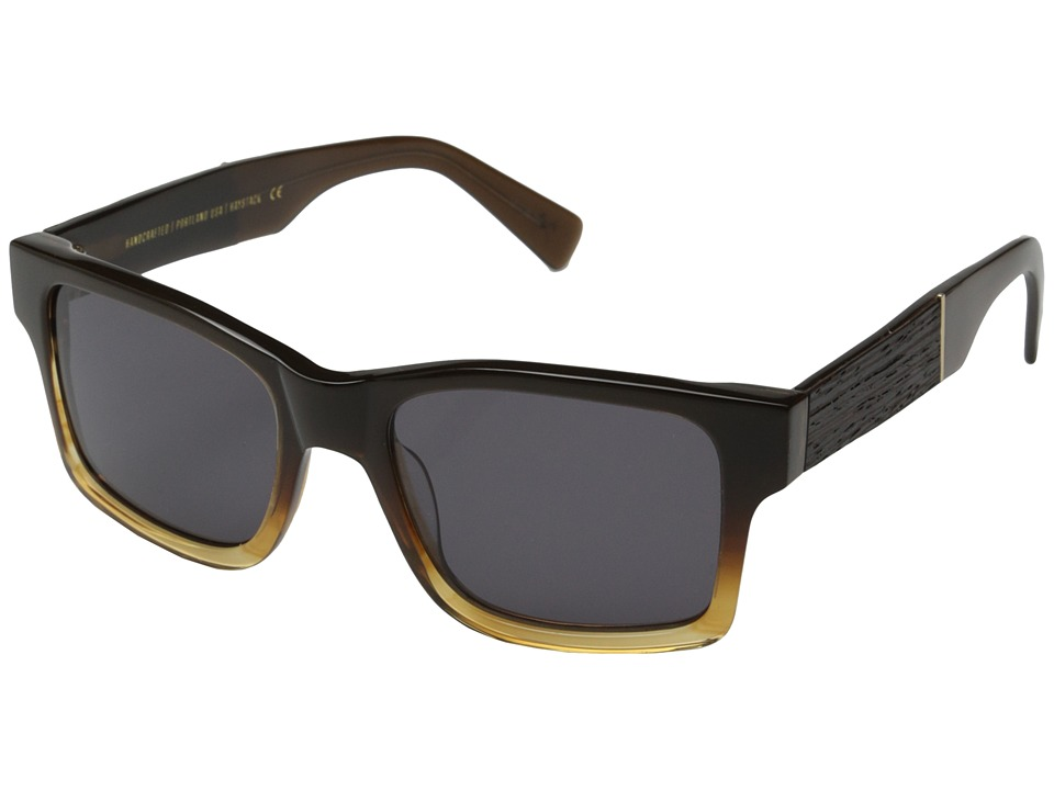 Shwood - Haystack Fifty-Fifty (Sweet Tea/Ebony/Grey) Sport Sunglasses