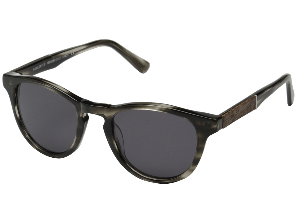 Shwood - Francis Fifty-Fifty (Pearl Grey/Elm Burl/Grey) Fashion Sunglasses