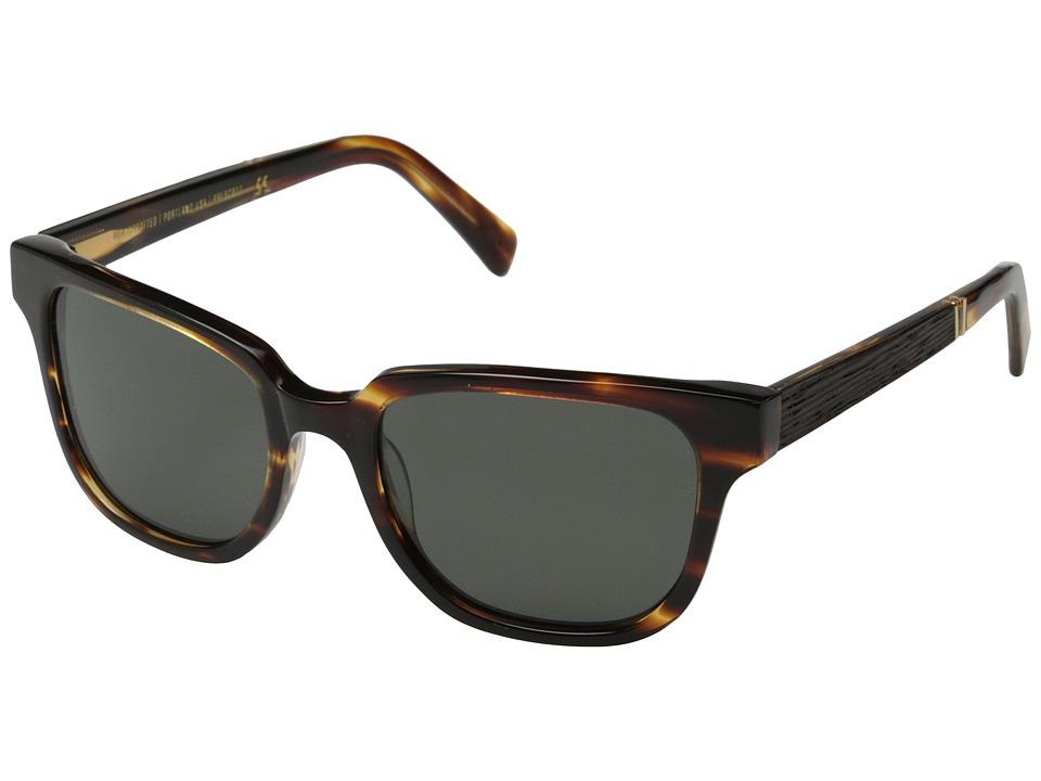 Shwood - Prescott Fifty-Fifty - Polarized (Tortoise/Ebony/Grey Polarized) Fashion Sunglasses