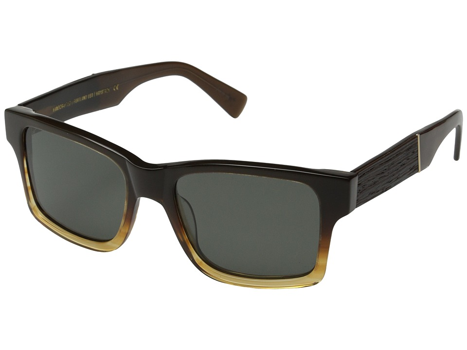 Shwood - Haystack Fifty-Fifty - Polarized (Sweet Tea/Ebony/Grey Polarized) Sport Sunglasses