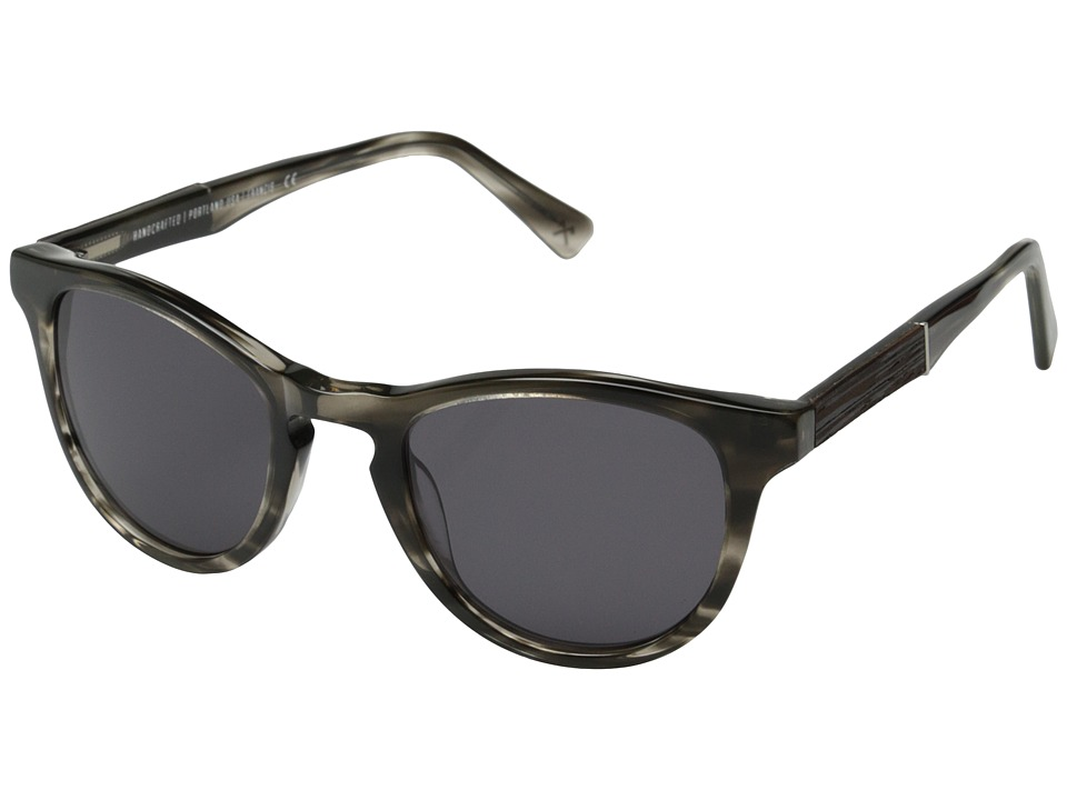 Shwood - Francis Fifty-Fifty (Pearl Grey/Ebony/Grey) Fashion Sunglasses
