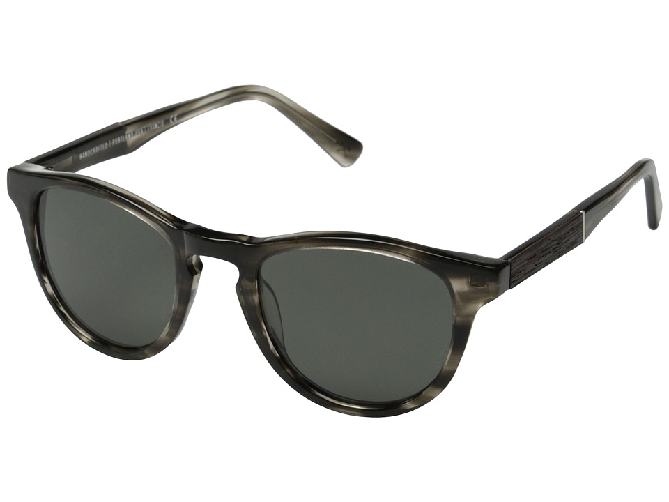 Shwood - Francis Fifty-Fifty - Polarized (Pearl Grey/Ebony/Grey Polarized) Fashion Sunglasses