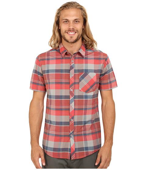Billabong - Vents Short Sleeve Woven Button Up (Red) Men