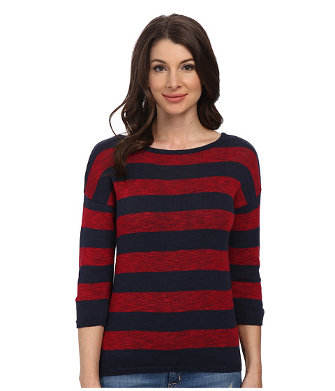 Mavi Jeans - Striped Sweater (Navy) Women's Sweater