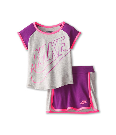 Nike Kids - Futura Short Sleeve Scooter Set (Toddler) (Bold Berry) Girl