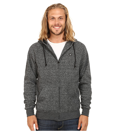 Billabong - Balance Zip-Up Hoodie (Black) Men's Sweatshirt