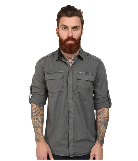 Mavi Jeans - Spring Shirt (Green) Men's Clothing